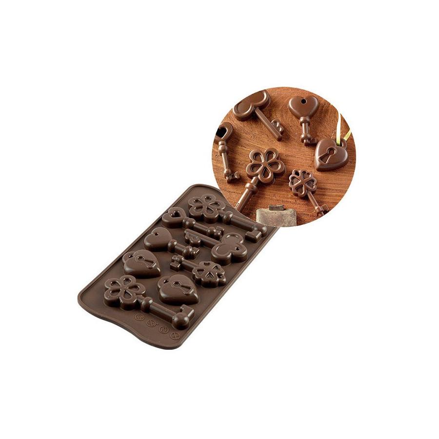 Silikomart Forma silikonowa do czekoladek pralinek KLUCZE SCG33