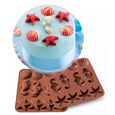Silikomart Forma silikonowa do czekoladek pralinek SEA LIFE