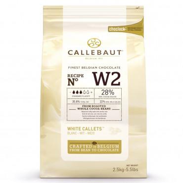Dropsy czekoladowe Callebaut CZEKOLADA BIAŁA W2 2,5kg