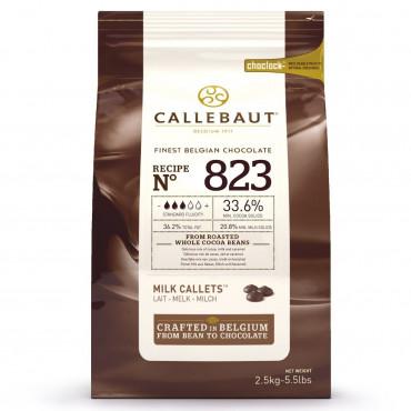 Dropsy czekoladowe Callebaut CZEKOLADA MLECZNA 823 2,5kg