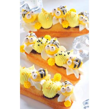 Cukrowe PSZCZÓŁKI 3D 5szt dekoracja na tort