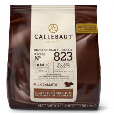 Dropsy czekoladowe Callebaut CZEKOLADA MLECZNA 823 400g