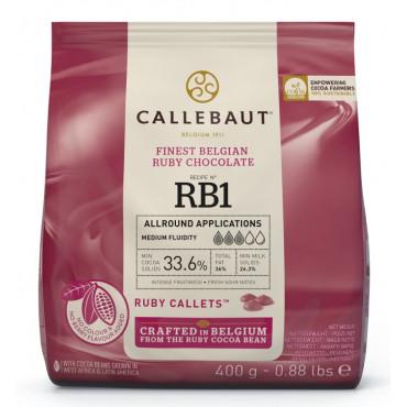 Czekolada Rubinowa dropsy czekoladowe Callebaut 400g