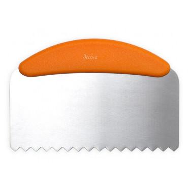 Decora Metalowa packa z uchwytem do tortu ząbkowana 23cm 0271026
