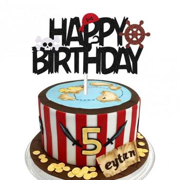 Topper papierowy na tort HAPPY BIRTHDAY PIRACI 1893