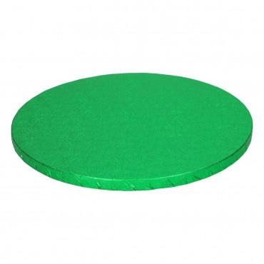 FC Podkład okrągły ZIELONY GRUBY 25cm pod tort wysoki h:1,2cm