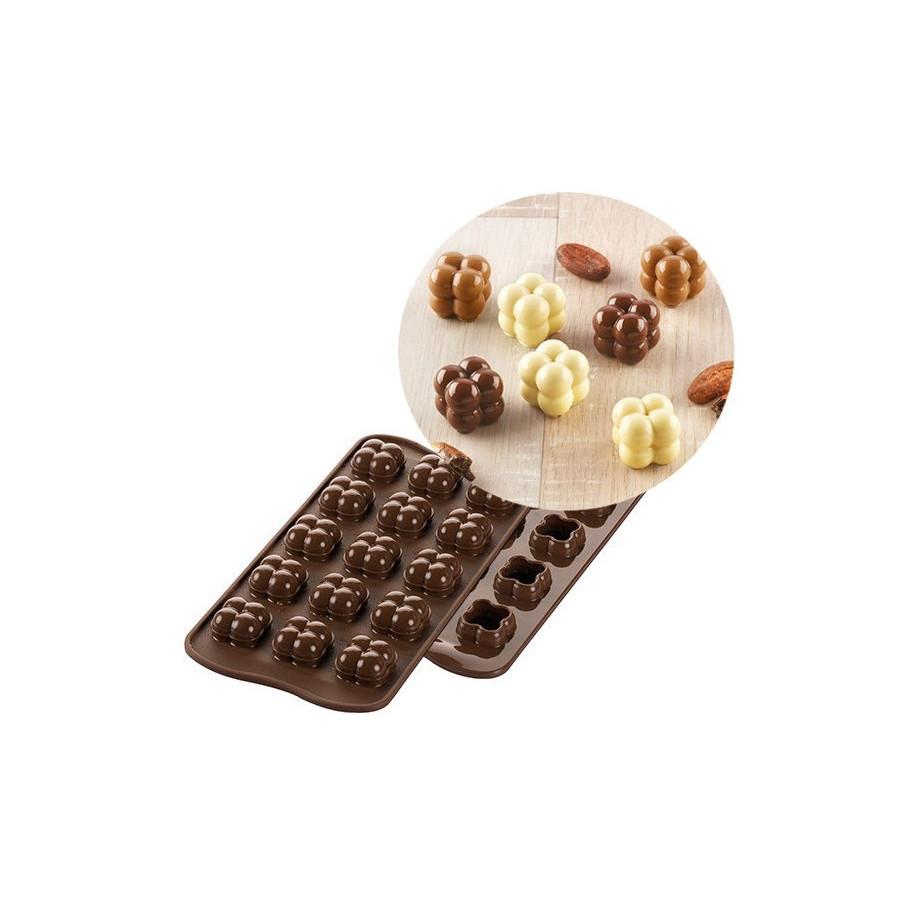 Silikomart Forma silikonowa do czekoladek pralinek 3D CHOCO GAME 412