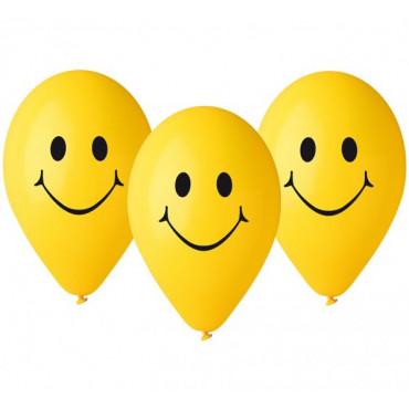 """Balony urodzinowe """"Uśmiechy"""" 5szt GS110/P178"""
