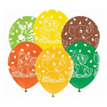 """Balony urodzinowe """"SAFARI"""" 5szt GZ-ZWT5"""