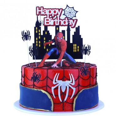 Toppery na tort HAPPY BIRTHDAY SPIDER MAN CITY 1973