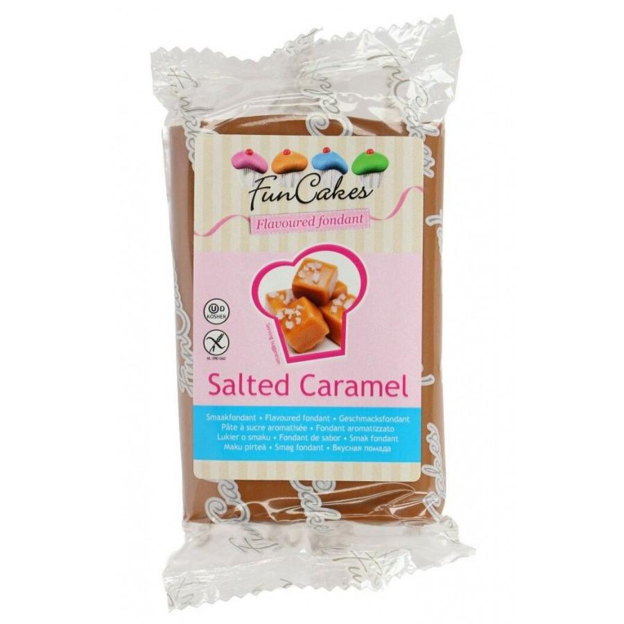 Fun Cakes Masa cukrowa lukier plastyczny BRĄZOWY smak SOLONY KARMEL 250g