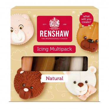 Renshaw Masa cukrowa lukier plastyczny 5 kolorów 5x100g NATURAL R06074