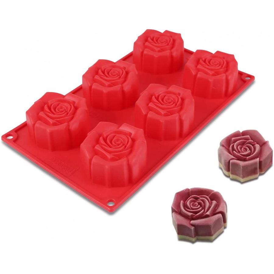 Forma silikonowa do pieczenia ciastek RÓŻE 6gn 9107