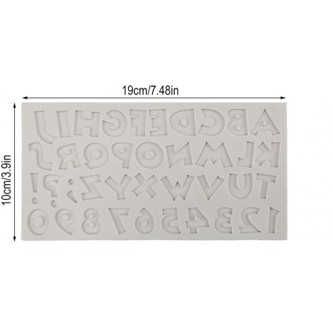 Forma silikonowa do literek cyferek ALFABET CARTOON 9108