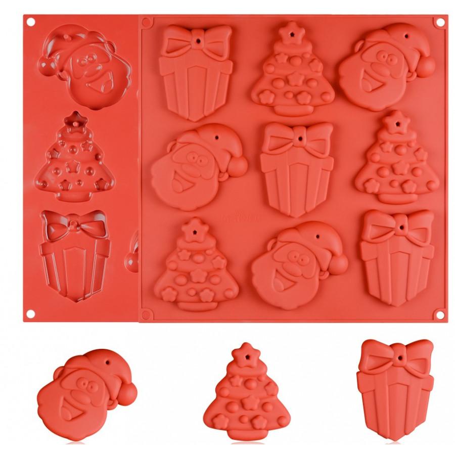 Forma silikonowa do ciastek na choinkę MERRY CHRISTMAS 9112