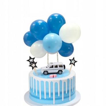 Balonowa girlanda NIEBIESKA topper 9119 Sweet Baking