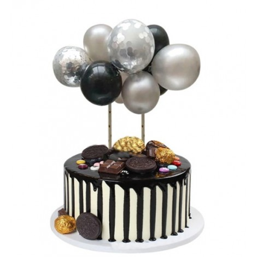 Balonowa girlanda SREBRNA topper 9120 Sweet Baking