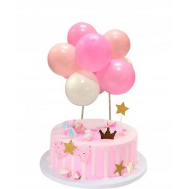 Balonowa girlanda RÓŻOWA topper 9121 Sweet Baking