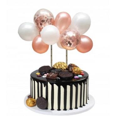 Balonowa girlanda RÓŻOWE ZŁOTO MIX topper 9123 Sweet Baking