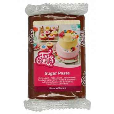 Fun Cakes Masa cukrowa lukier plastyczny MAROON BROWN 250g