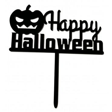 Topper na tort akrylowy Happy Halloween 9173