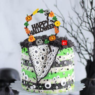 Topper na tort akrylowy Happy Halloween Fall 9176