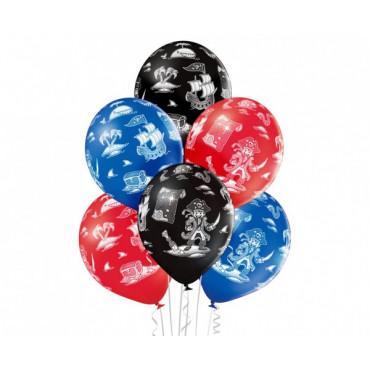 """Balony urodzinowe """"PIRACI"""" 6szt BRN 5000324"""
