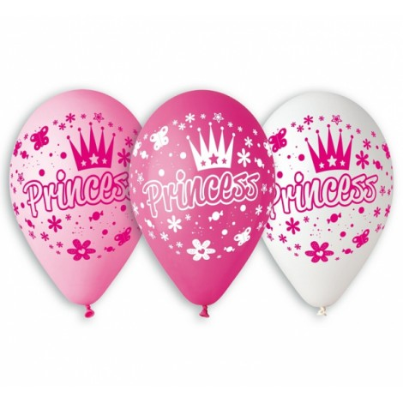 """Balony urodzinowe """"KSIĘŻNICZKI"""" 5szt GB/PG32"""