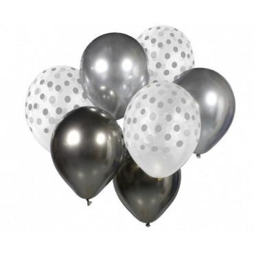 Bukiet balonowy SREBRNY 7szt BB-SRG7