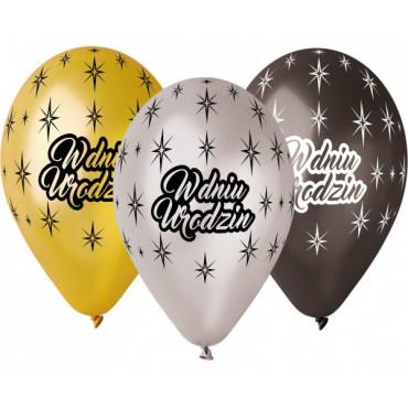 """Balony urodzinowe """" W dniu urodzin"""" 6szt GMS110/WDU"""