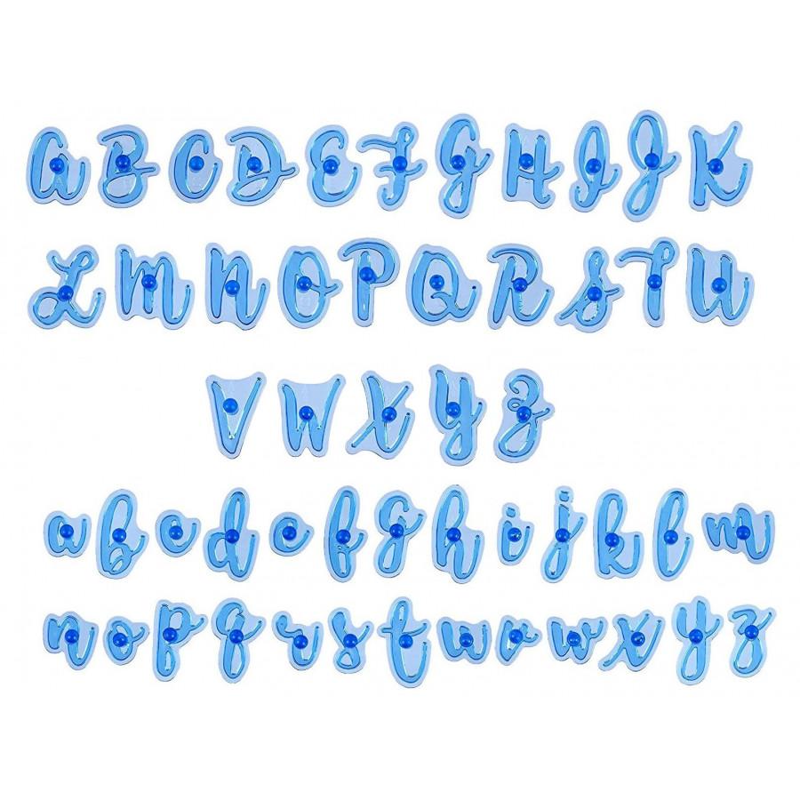 Zestaw foremek do tworzenia napisów na masie cukrowej Zabawna Czcionka Alfabet 9250