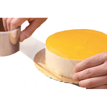 Silikomart Folia rantowa do deserów na zimno przeźroczysta wys.6cm dł. 10m