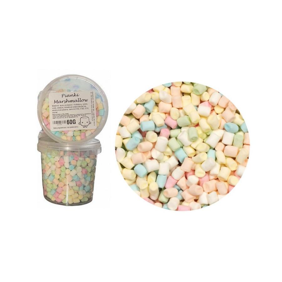Mini pianki Marshmallow do deserów kolorowe 60g