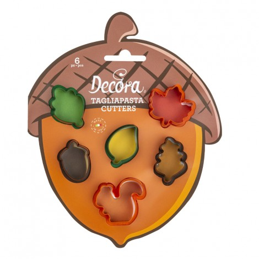 Decora Zestaw foremek do tworzenia jesiennych MINI ciasteczek 0255213