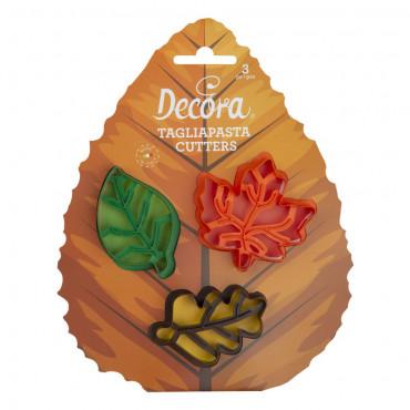Decora Zestaw foremek do tworzenia jesiennych ciasteczek LIŚCIE 0255165