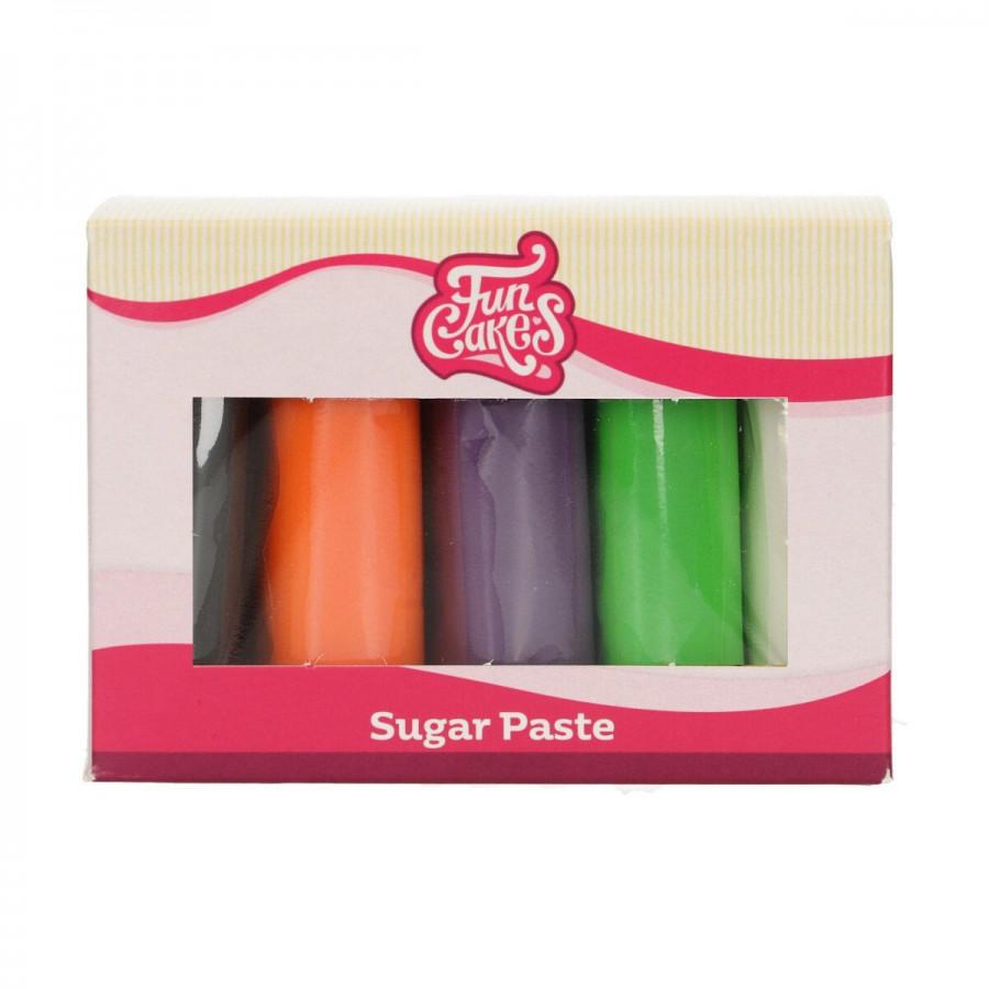 Fun Cakes Masa cukrowa lukier plastyczny 5 kolorów 5x100g HALLOWEEN MIX F20385