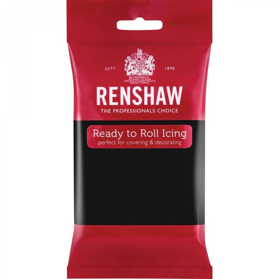 Renshaw Masa cukrowa lukier plastyczny CZARNY JET BLACK 250g R02901
