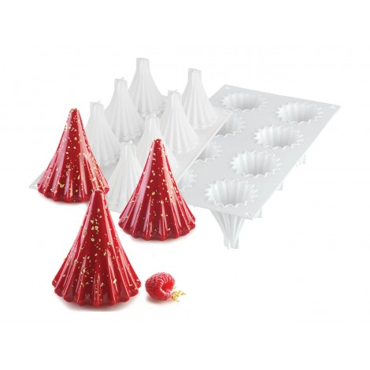 Forma silikonowa do pieczenia ciastek CHOINKA CHOINKI 3D 8 gniazd 9426