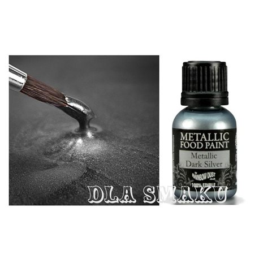 Farbka Metaliczna Rainbow Dust Ciemne Srebro