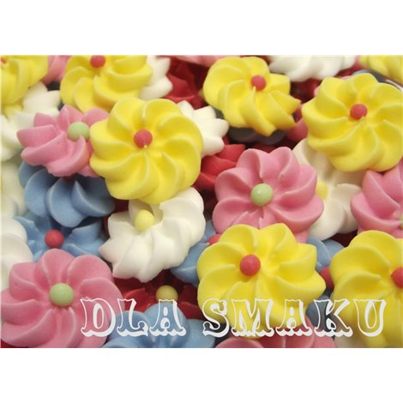 Kwiatki cukrowe STOKROTKI WIOSENNE 10sztuk śr.2cm