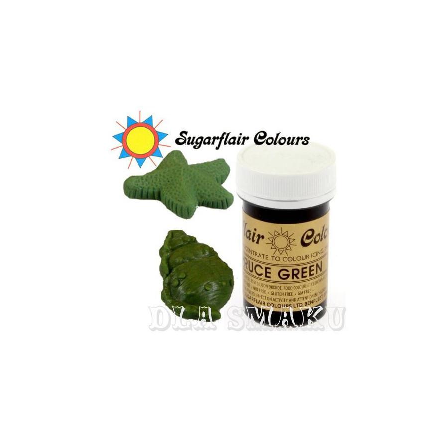 Sugarflair Barwnik jadalny w żelu do mas kremów zielony choinkowy SPRUCE GREEN A107